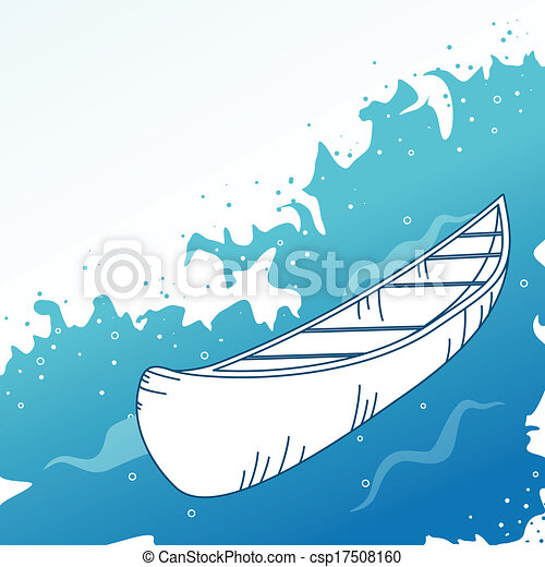 Background with boat. - csp17508160