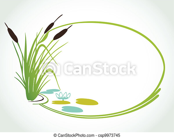 Background with cane. Vector ilustration - csp9973745