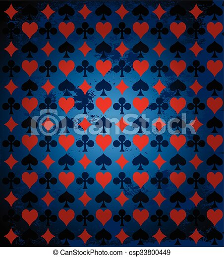 Background with Card Suits - csp33800449