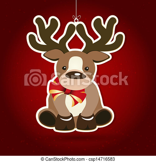 Background with Christmas decoration, illustration. - csp14716583