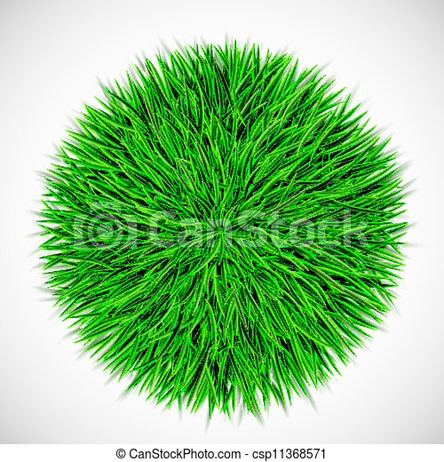 Background with circle of grass - csp11368571