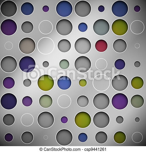 Background with circles - csp9441261