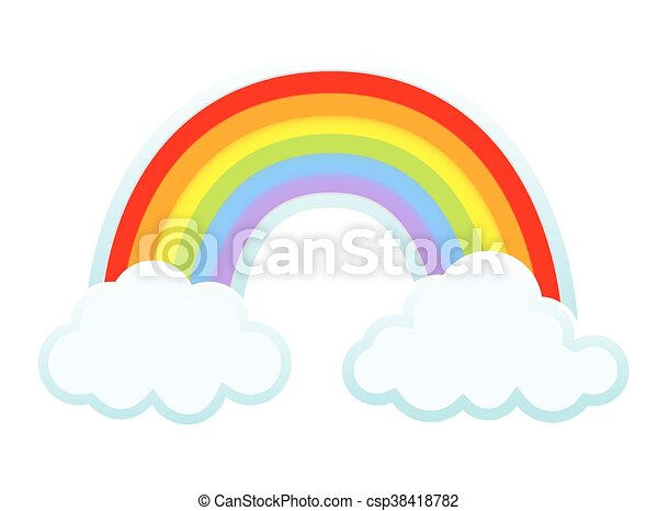 background with clouds and rainbow vector vector search clip art rh canstockphoto com vector rainbow six vector rainbow gradient
