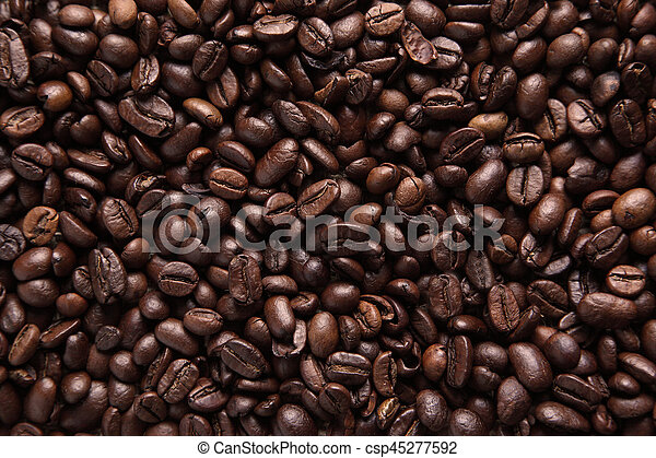 Background with coffee beans - csp45277592