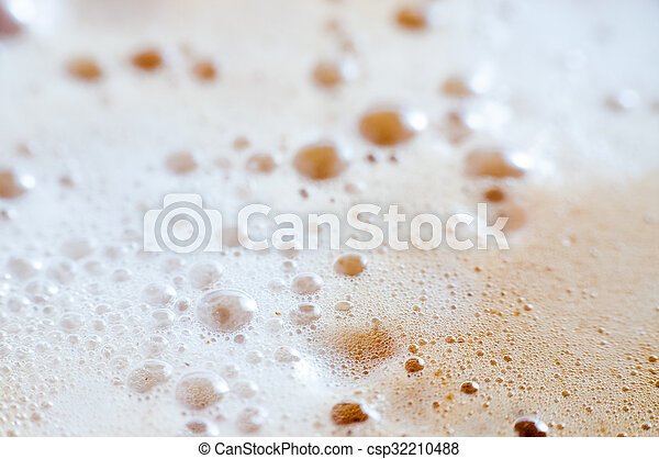 Background with coffee foam - csp32210488