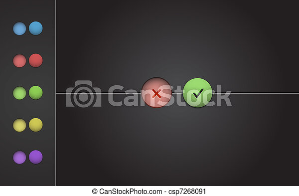 Background with color check boxes - csp7268091