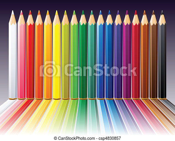 Background with color pencils - csp4830857