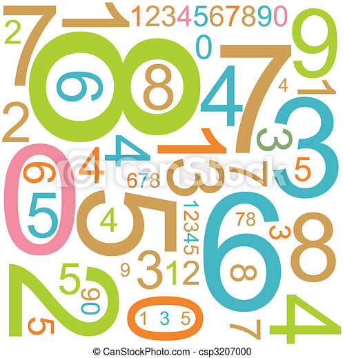 background with colorful numbers - csp3207000
