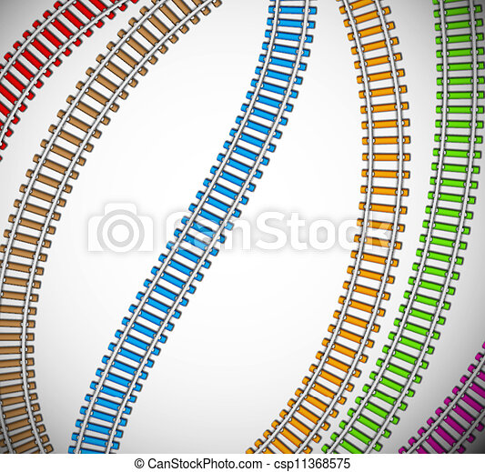 Background with colorful rails - csp11368575
