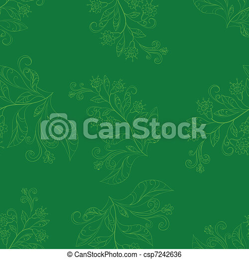 Background with contours flowers - csp7242636