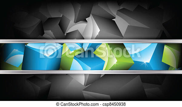 Background with cubes. Vector illustration - csp8450938