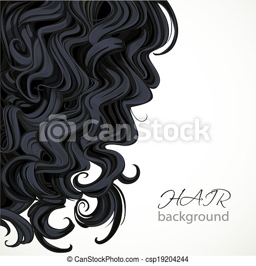 Background with curly brown hair - csp19204244