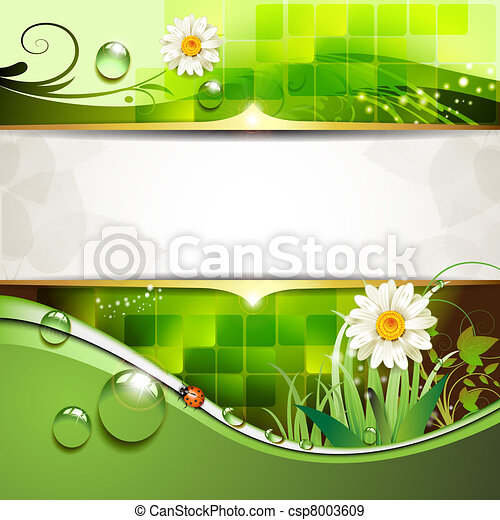 Background with daisy - csp8003609