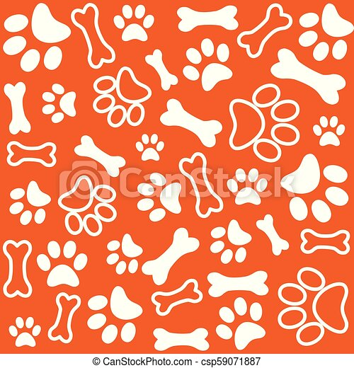 1c9fdefec238 Background with dog paw print and bone - csp59071887