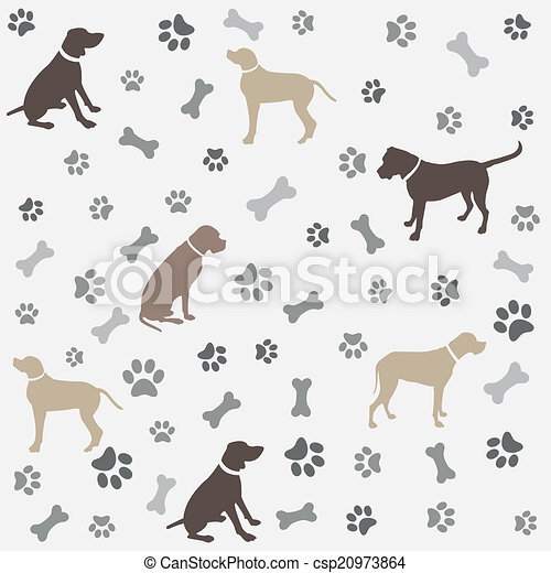 0df0feb02e06 Background with dogs paw print - csp20973864