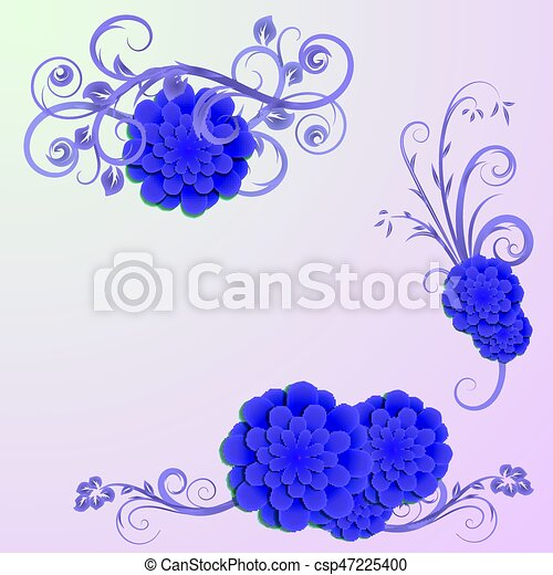 Background with elements of floral design - csp47225400