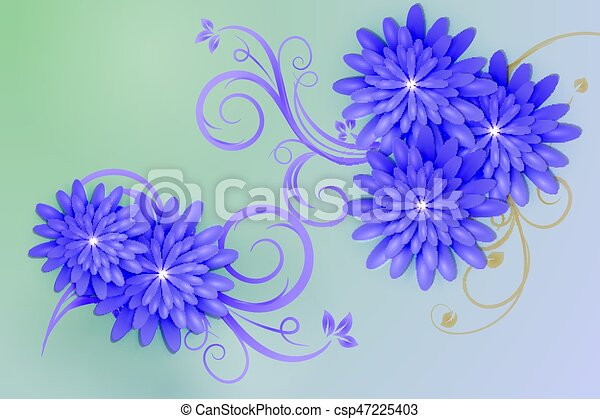 Background with elements of floral design - csp47225403