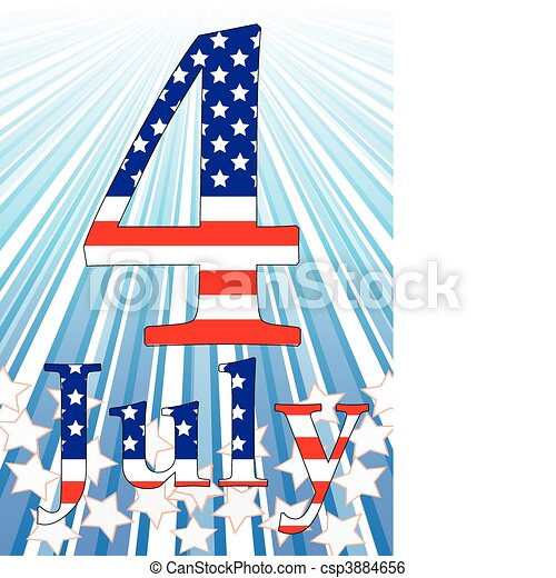 Background with elements of USA flag, vector illustration  - csp3884656