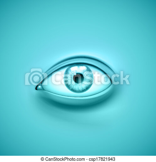 Background with eye - csp17821943