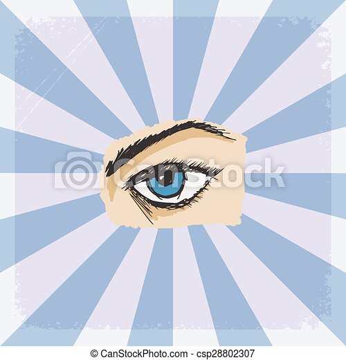 background with eye - csp28802307
