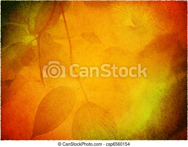 Background with fall leaves - csp6560154