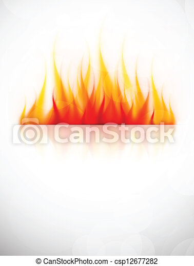 Background with fire - csp12677282