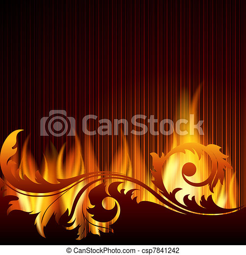 Background with flame. - csp7841242
