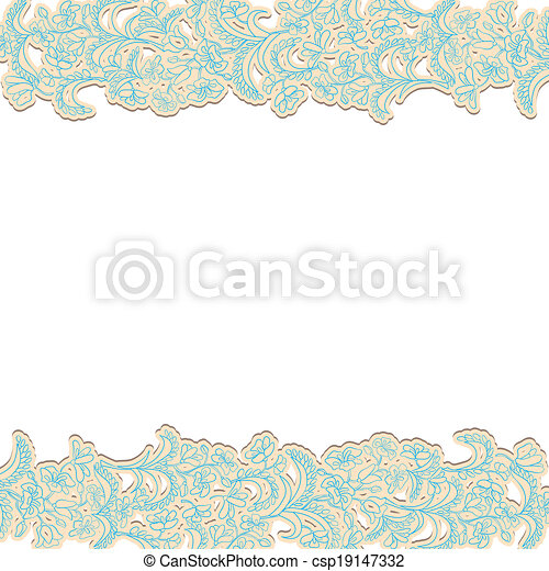 Background with floral ornament - csp19147332