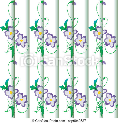 Background with floral ornament - csp9042537