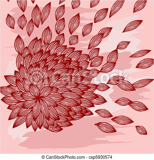 background with flower with blown petals - csp5930574