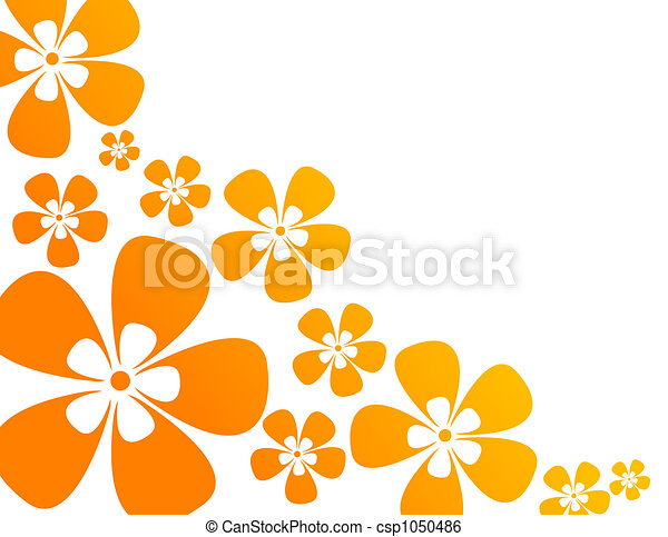 background with flowers in warm colors - csp1050486
