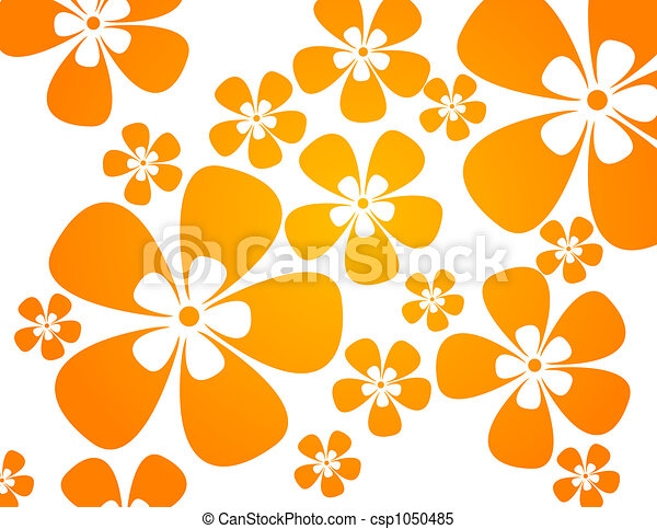 background with flowers in warm colors - csp1050485