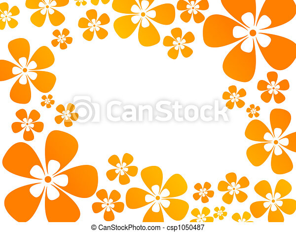 background with flowers in warm colors - csp1050487