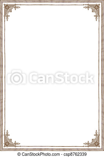 Background with frame - csp8762339