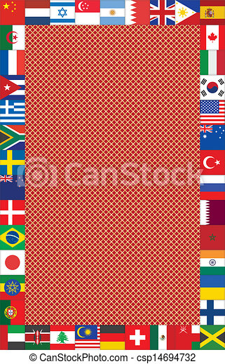 background with frame made of flags - csp14694732