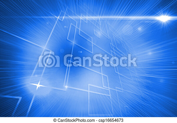 Background with glowing lines - csp16654673