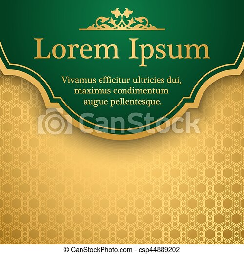 Islamic Book Cover Design Vector