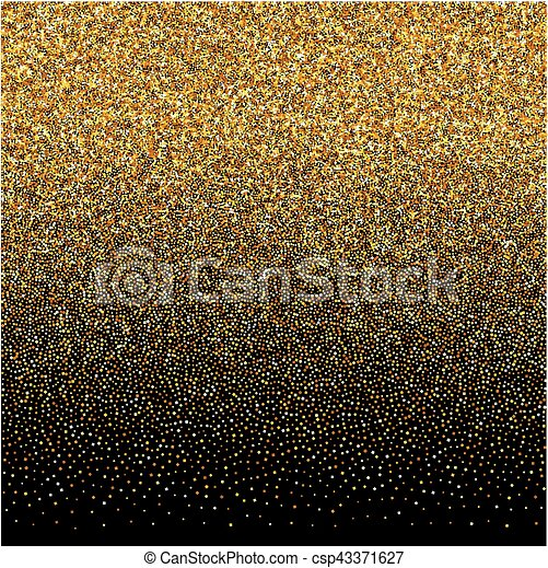 Vector background with gold gradient texture on black ...