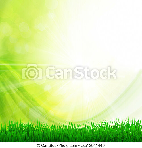 background with grass - csp12841440