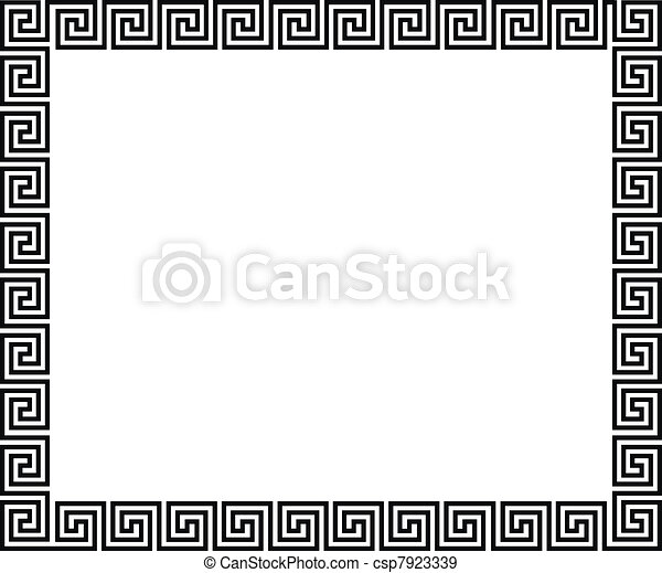 Background with greek ornament - csp7923339