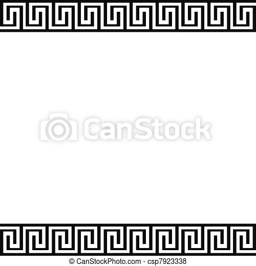 Background with greek ornament - csp7923338