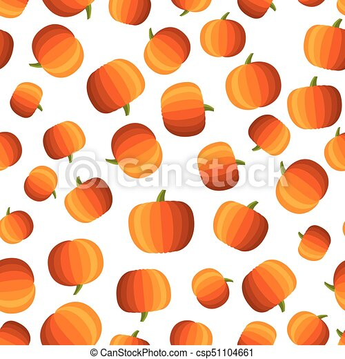 Background with halloween pumpkins pattern. - csp51104661