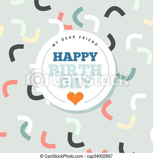 Background with happy birthday typography invite birthday card background with happy birthday typography invite birthday card csp34002997 filmwisefo