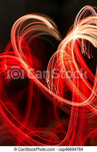 background with heart-shaped lights - csp46694784