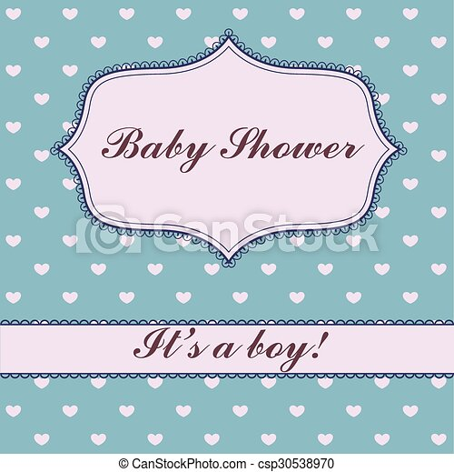 Vector Vintage Background With Hearts Baby Shower Vectors