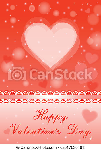 Background with hearts. - csp17636481