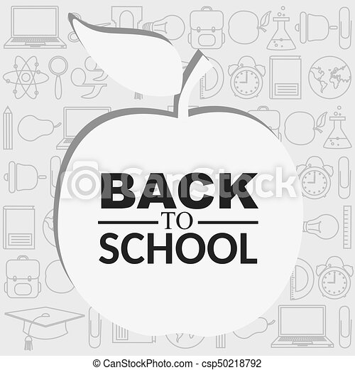 Background with icons education - csp50218792