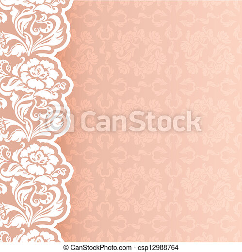 Background with lace - csp12988764