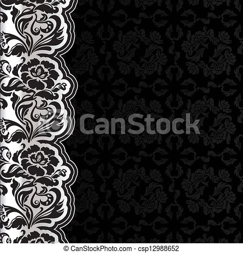 Background with lace, dark square - csp12988652