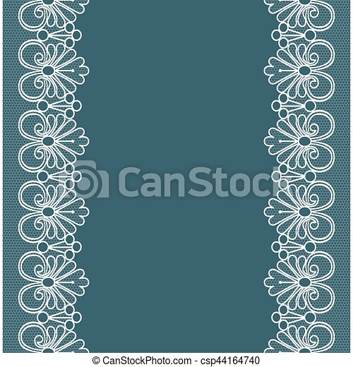 Background with lace. Template for wedding, invitation or greeting ...